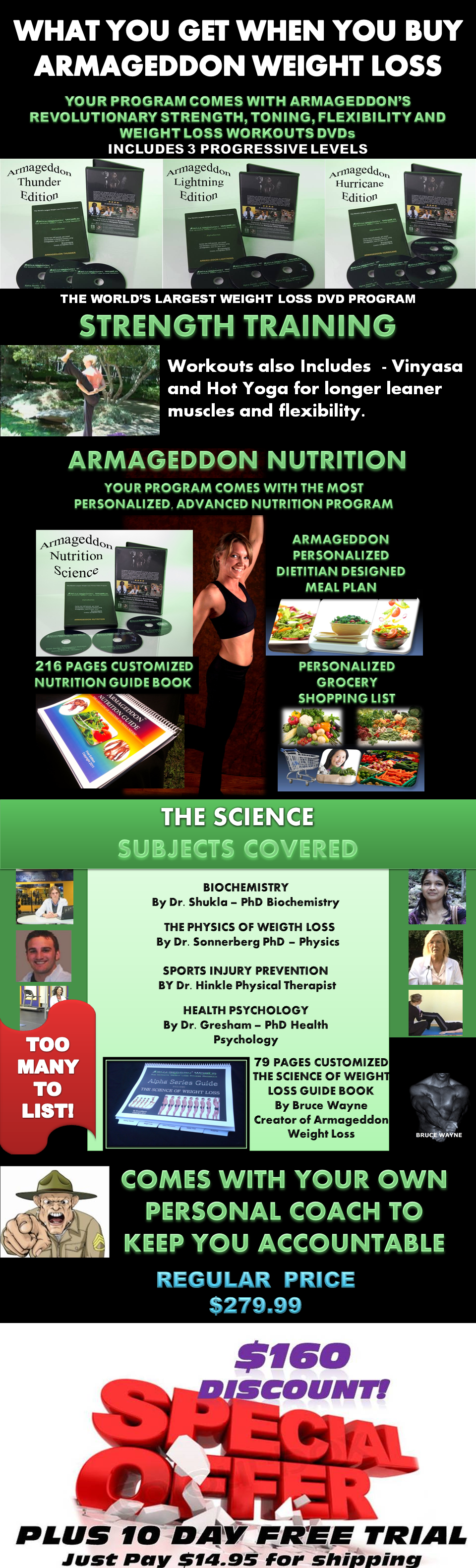 ARMAGEDDON WEIGHT LOSS PRODUCT LISTING - THE BEST WEIGHT LOSS DVD PROGRAM FOR MEN AND WOMEN - BEST EXERCISE DVD