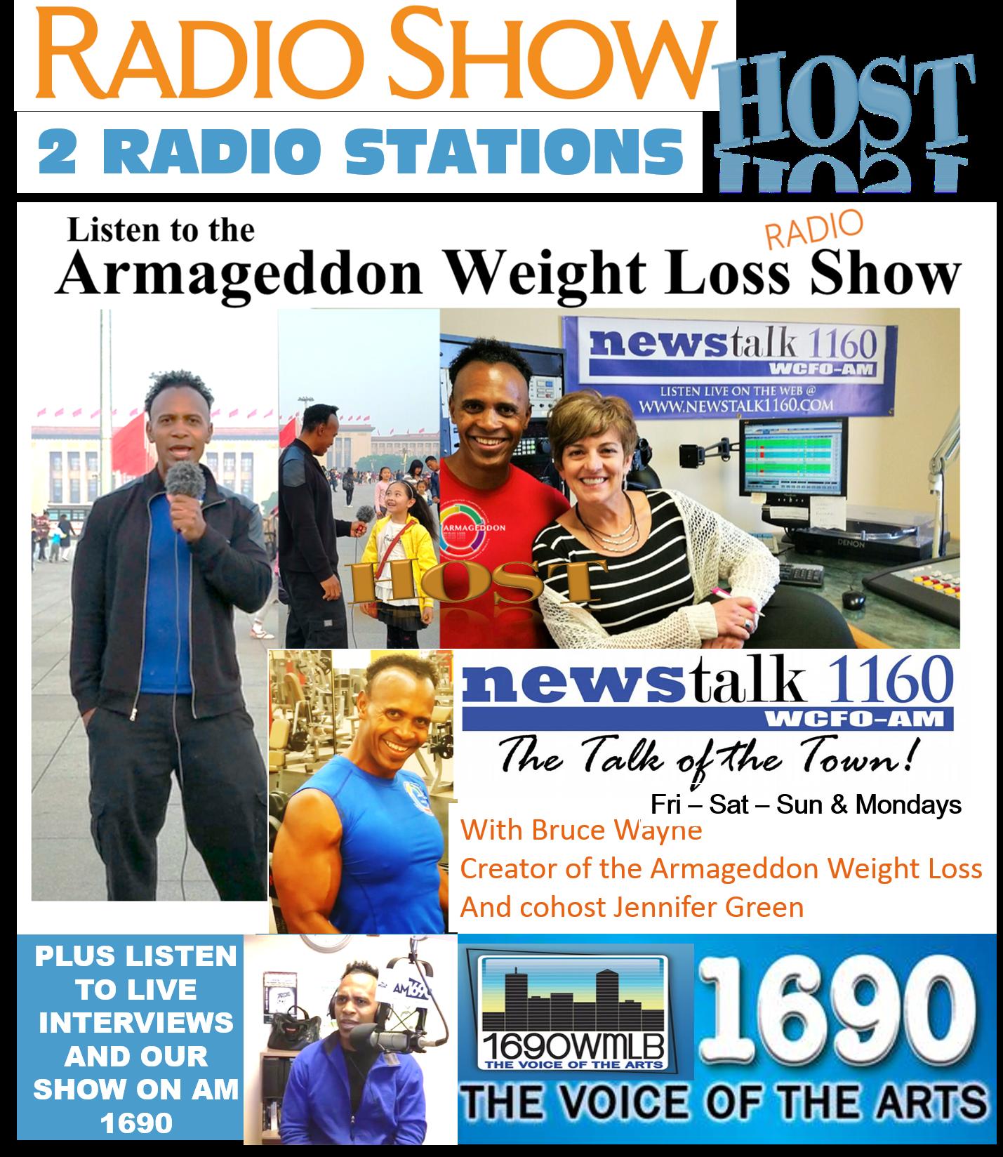 Armageddon Weight Loss Radio Show - ArmageddonWorld.com, Best weight loss program for women and men, Bruce Wayne - 40