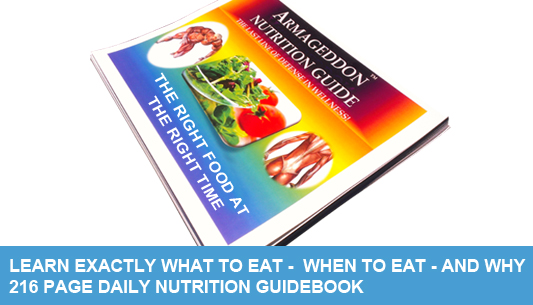 ARMAGEDDON NUTRITION GUIDE BOOK are not all the same. Your guide is selected based on your specific nutrition requirements! At 216 pages, this is the nutrition that Carlos used to lose over 238 pounds! Written by Bruce Wayne and our Armageddon Registered Dietitians it is designed to teach you in 60 days how to lose weight and keep it off.   This guide has helped numerous clients lose weight, learn real evidence based nutrition science, and learn how to eat correctly for the rest of their life!