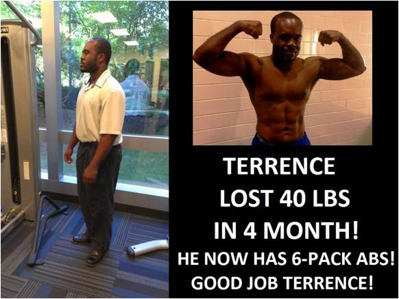 Terrence before and after