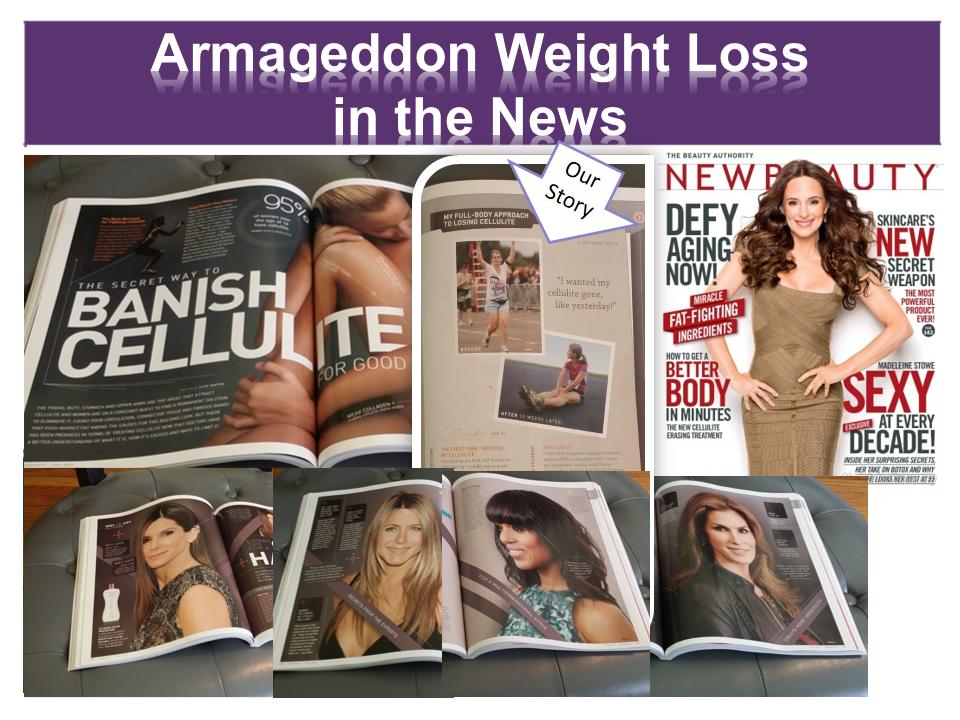Armageddon Weight Loss in the News - Best Weight Loss DVD Program for women and men -Cellulite Removal, Bruce Wayne, Sandra Bullock, Jennifer Aniston, Kerry Washington, Christie Brinkley