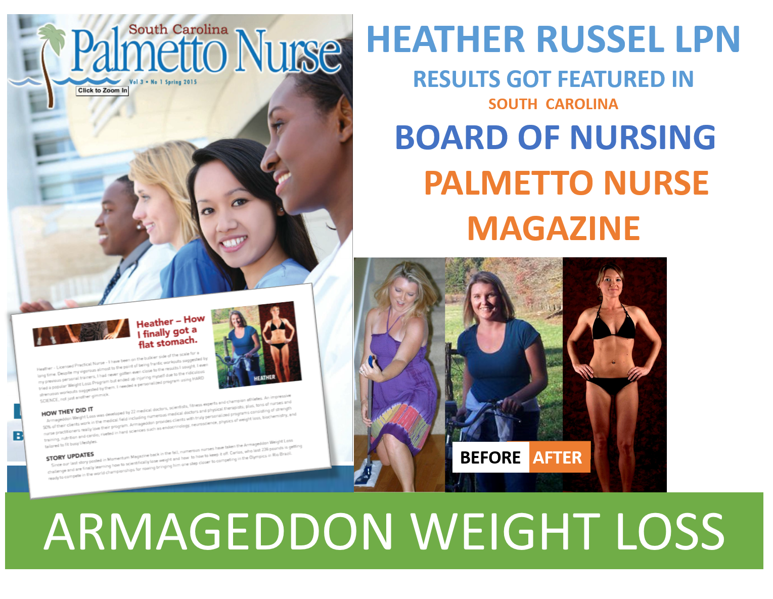 Heather Russel - Before & After Armageddon Weight Loss - Best weight loss program for women and men