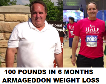 Mark - Before and After Armageddon Weight Loss - Best Weight Loss DVD for women and men - LOST OVER 100 POUNDS