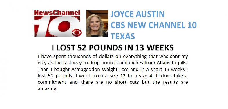Joyce Austin - Armageddon Weight Loss - Logo -  Best weight loss DVD for women - lose weight fast - best exercise DVD, youtube - How to get rid of cellulite -9
