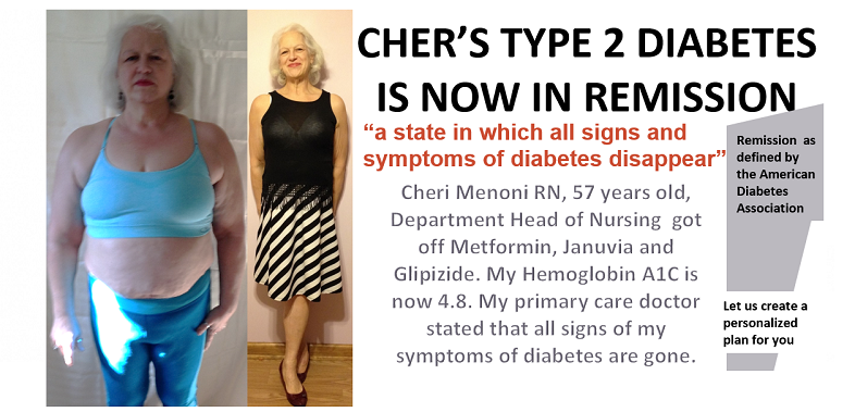 Cheri Menoni - Registered Nurse - Department Head of Admissions. - Before and After - Armageddon Weight Loss - diabetes remission2