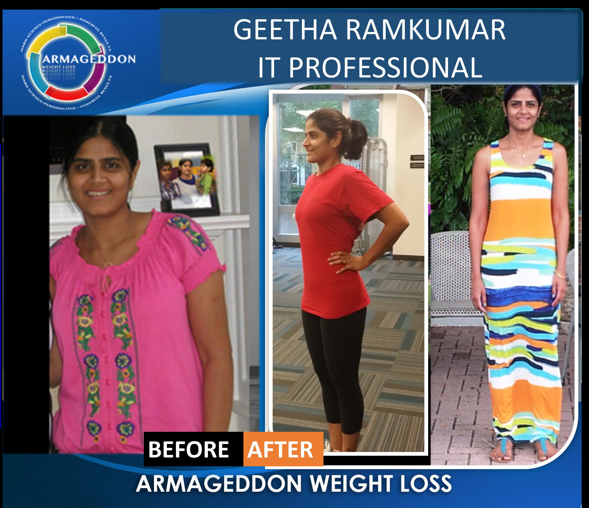 Geetha Ramkumar IT Professional - Infor - Armageddon Weight Loss - Best weight loss DVD for women, best exercise program for women-3